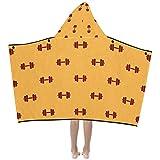 Fitness Hantel Übung weiche warme Kinder verkleiden sich mit Kapuze tragbare Decke Badetücher...