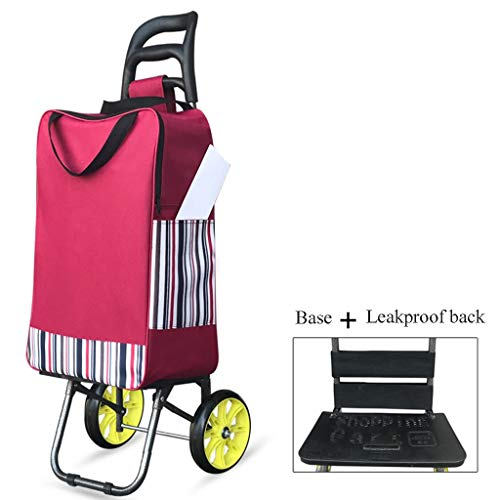 Yuan Einkaufstrolleys Kleiner Einkaufswagen kaufen , Tragbare Haushaltswagen älterer Supermarkt Faltbarer Gepäckwagen (Farbe : A)