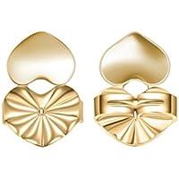 Lamdoo Hot Magic Ohrringe Unterstützung Schmetterling Herzform Rückseite Lift Alle Post Fashion Set, Kupfer, Gold, A: 1.4x1cm(0.55x0.39in)
