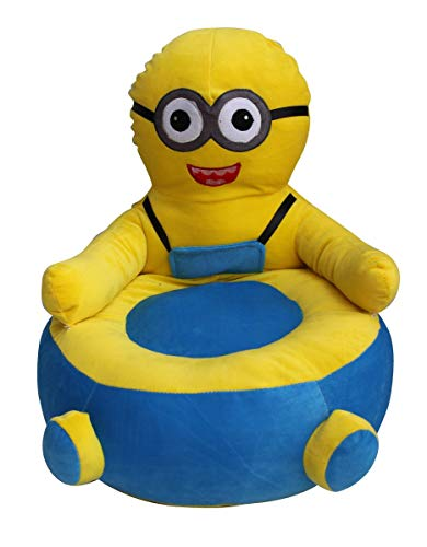 Minions Character Shaped Velvet Sofa for Toddlers by ome empex