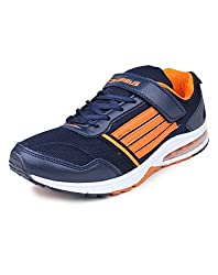 Columbus AirZone 05 Mesh Basketball shoes for Men (7 UK, NavyOrange)