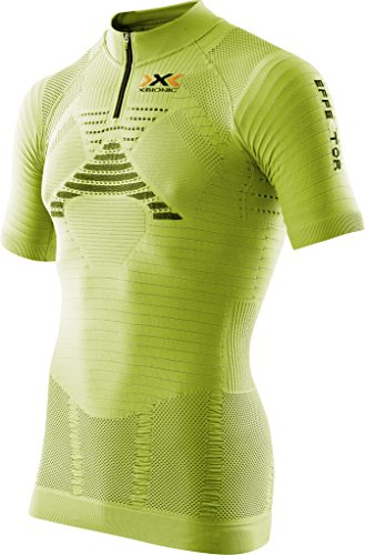 X Bionic Trail Running Effektor Ow Sh_sl Zip-Up, Maglia Uomo Green Lime/Nero