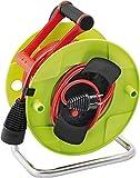 Brennenstuhl Enrouleur Electrique Standard pour Jardin 48,5m + 1,5m (H05VV-F 3G1,5, IP20, poignée cablepilot, vert, garantie 3 ans), Fabrication Française