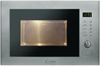 Candy MIC25GDFX Microondas integrable con grill sin marco, plato giratorio 31,5 cm, 10 programas, 900 W-1000 W, 25 litros, acero inoxidable antihuellas