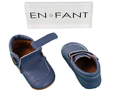 En-fant unisex bambini scarpe prima infanzia a strappo, pelle, 815060U Blu