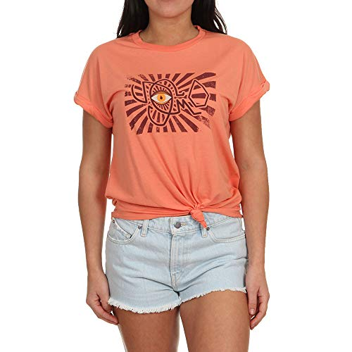 Terra Cotta Top (Volcom Damen Breaknot Top, Terra Cotta, M)