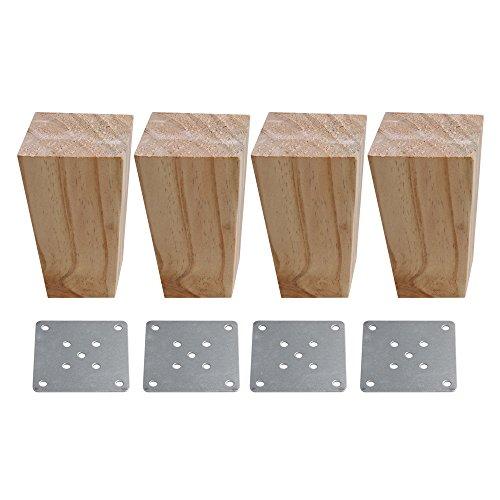 Sofa-fuß (60x60x120mm Natürliche Holz Trapezförmigen Sofa Beine Möbel Füße Sofa Schrank DIY Montage Satz von 4 stück)