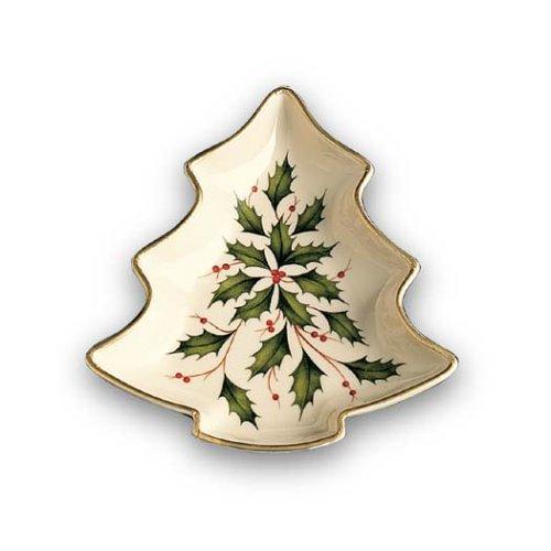 Lenox Holiday Gold-Banded Tree-Shaped Candy Dish by Lenox - Lenox Urlaub