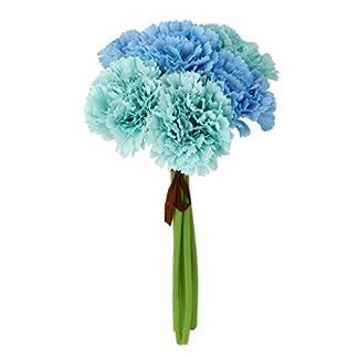 Ramo de Flor Clavel Artificial Decoración para Hogar Boda -Azul