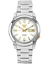 Seiko Herren-Armbanduhr XL Analog Automatik Edelstahl SNKK07K1