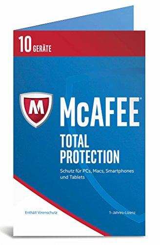 Produktbild McAfee Total Protection 2017 / 10 Geräte / 1 Jahr / PC / Mac / Smartphone / Tablet / Download
