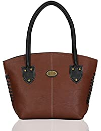 Fantosy Women's Handbag (Brown and Black) (FNB-427)