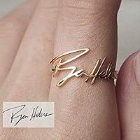 Aurélia Pieces Ehering/Namensring mit persönlicher Handschrift als in 3D Gravur, wahlweise in silber, gold, roségold aus Sterling Silber