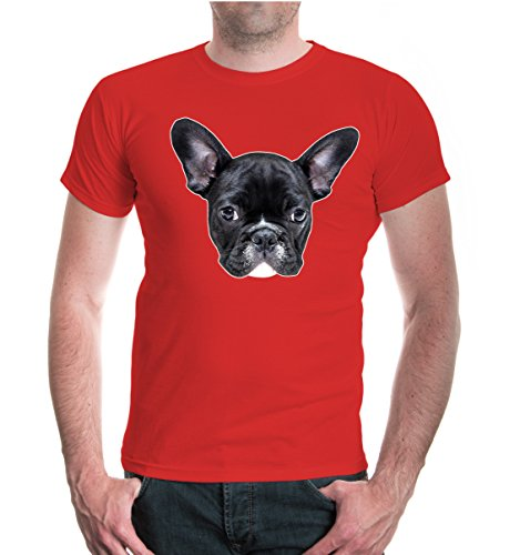 buXsbaum® T-Shirt French-bulldog-Face Red
