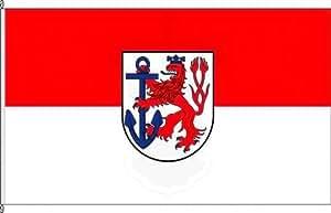 Königsbanner Tischfähnchen Düsseldorf - Tischflaggenständer aus Chrom
