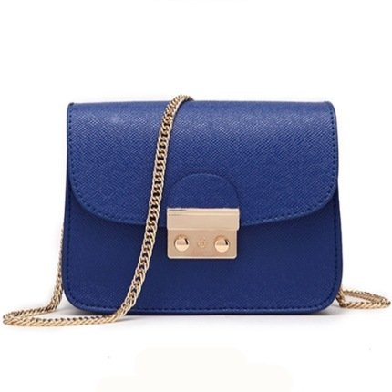 Mefly La nuova borsa femmina Lady Borsa piccola borsa borsa rosa a catena Navy Blue