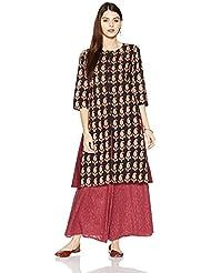 Amazon Brand- Myx Women's Cotton A-Line Kurta