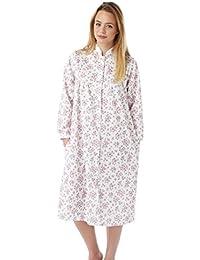 e784399e09 Marlon Ladies Mock Quilt Button Through Dressing Gown. Pink
