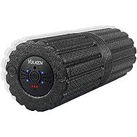 Preisvergleich für Vulken Faszienrolle Vibration Massagerolle 43cm mit Intensiver Tiefenvibration Foam Roller mit 4 Vibrationsstufen Selbstmassagerolle
