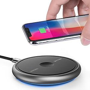 Fast Wireless Charger, Sinopuren 7.5W Schnellladung für iPhone X, iPhone 8/8 Plus, Galaxy S8 / S8 + / S7 / S7 Rand / S6 Rand + und weitere QI Geräte