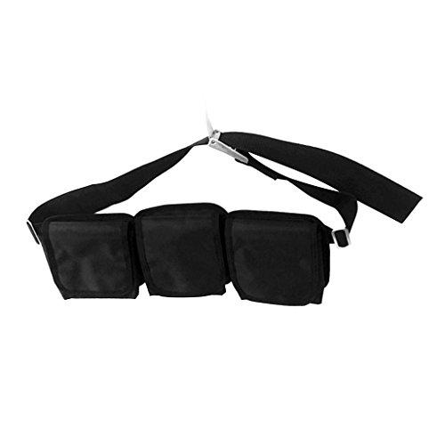 Sharplace Tauchgürtel Set inkl. Bleigurt + Zusätzliche Tauchgewichte Taschen, Bleitasche + Gürtelschnallen - 3 Taschen