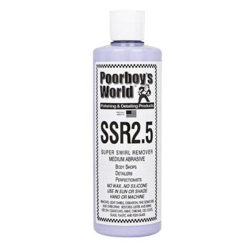 Poorboy's World SSR2.5 Produit efface-rayures avec applicateur et chiffon en microfibre