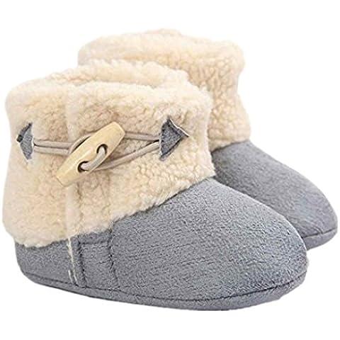 Auxma Zapatos invierno Bebé Mantenga cálida nieve suave suela botas de cuna suave zapatos niño