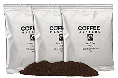 Coffee Masters Fairtrade Ground Filter Coffee Sachets (50x50g)