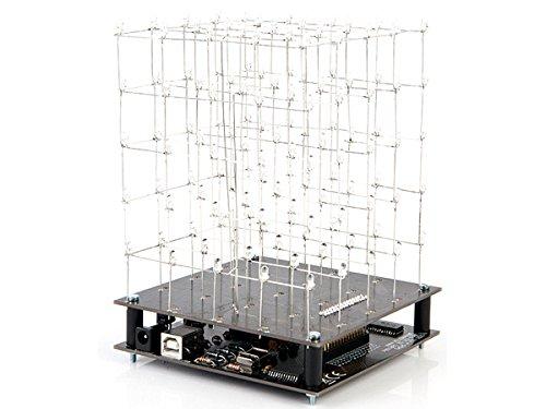 VELLEMAN - K8018B 3D-Cube mit blauen LED, 5 x 5 x 5, Bausatz, 840519
