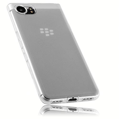 mumbi Schutzhülle für BlackBerry KEYone Hülle transparent weiss