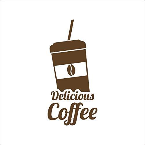 zzlfn3lv Latte Cafeteria cafés EIS pan Kuchen küche wandkunst abnehmbare DIY Aufkleber Dekoration Wandbild Decor 40 * 84 cm -