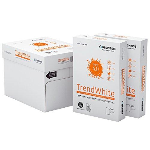 STEINBEIS TrendWhite A4, 80 g/m² Blancura CIE 85 papel universal 35 paquetes (17,500 hojas) en 7 cajas
