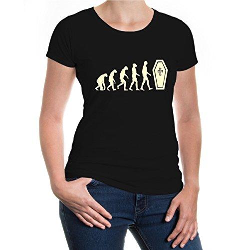 buXsbaum® Girlie T-Shirt The Evolution of life Black-Beige