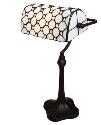 Tiffany Leuchte Jugendstil Lampe Perlmutt Bauler 43cm