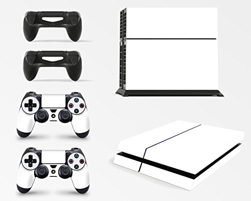 Price comparison product image GNG PS4 Console White Colour Skin Decal Vinal Sticker + 2 Controller Skins Set