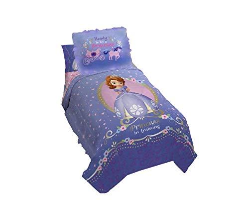 Princesa Sofia marca nuevo y exclusivo para niñas doble Comforter y Sham juego de (morado)