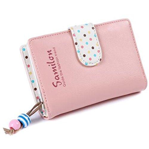 Jastore® Mädchen Medium HandtascheDamen Elegant Mädchen Geldbörse Fashion Geldbeutel Portemonnaie (Rose)