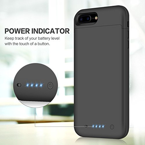 Coque Batterie iPhone 8 Plus/7 Plus, iPosible 7000mAh Chargeur