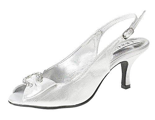 LEXUS  Z027-NADYA, Escarpins pour femme silver