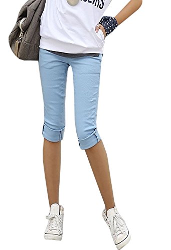 Ybenlover Damen Skinny Jeans Hose Caprihose Slim Fit Denim Leichte Sommerhose (Capri-jeans Mädchen)