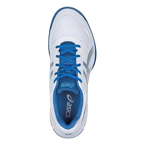 Gel 8 Rocket White Volleyballschuhe Blue silver Elfenbein Asics Herren classic Zq5wF