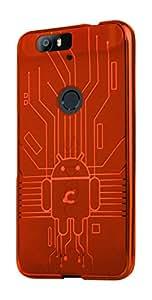 Cover for Nexus 6P, Cruzerlite Bugdroid Circuit TPU Case for Huawei Nexus 6P - Orange