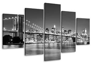 Bild auf Leinwand 100 cm Nr 6402 New York fertig gerahmte Bilder 5 Teile Marke original Visario Leinwandbilder