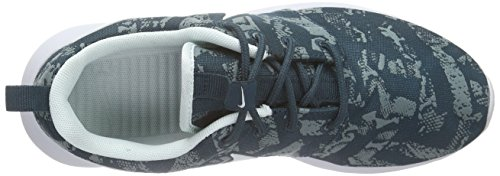 Nike Roshe One Print Damen Laufschuhe Blau (Midnight Teal/Fbrglss-Premium Platinum)