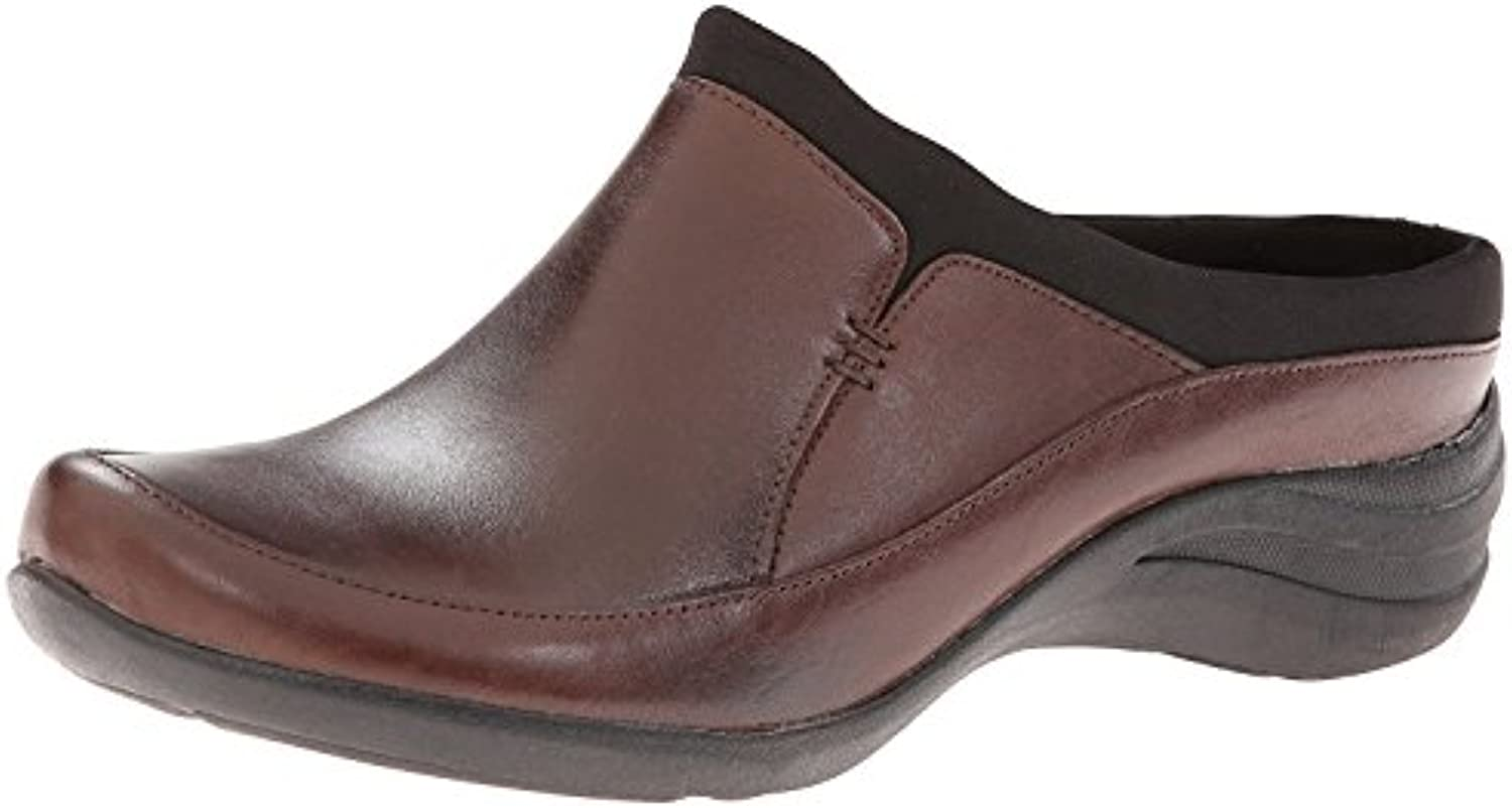 Hush Puppies Women's Epic Clog, Dark Brown Leather, 38 B(M) EU/5 B(M) UK