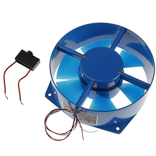 Homyl Industrieller 38W / 220V Badlüfter Wandlüfter Deckenlüfter Rohrlüfter Ventilator für Fenster