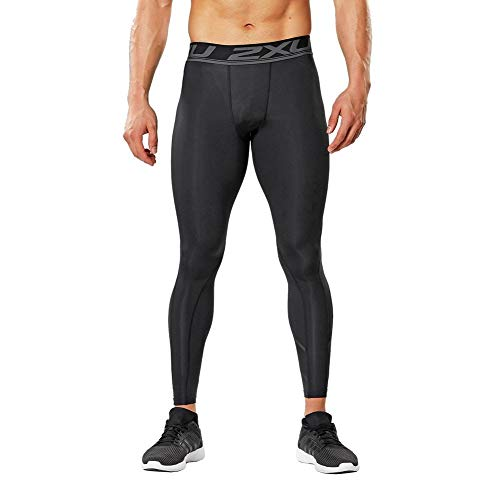2XU Accelerate Compression Collants Homme, Black/Arrow Stripe Nero, M