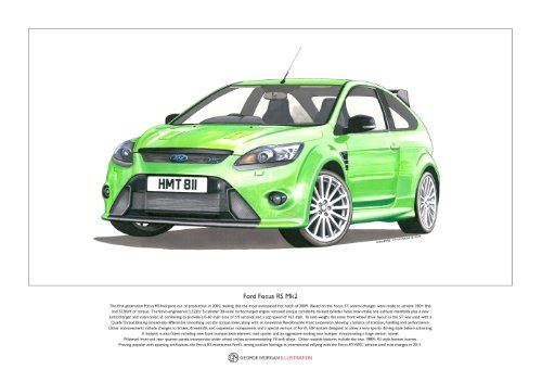 Ford Focus RS Mk2 ART POSTER A3-Format