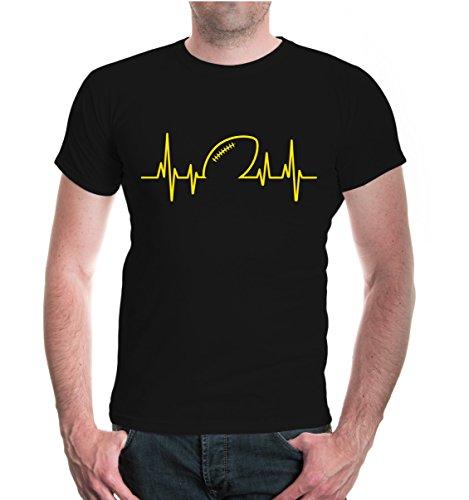 T-Shirt Frequenz-American Football-M-Black-Sunflower