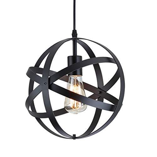 Lámpara colgante esférica industrial,Lámpara de techo metal Retro Vintage rústico,E27 Lámparas de...